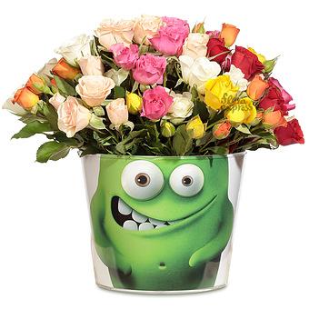 Букет Монстрик: Микс кустовых роз