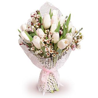 Букет Ариадна: Тюльпаны и ваксфлауэр