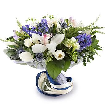 Букет Орхидеи и гиацинты